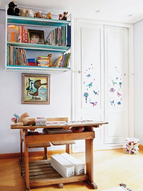 Wood, Room, Interior design, Wall, Shelving, Shelf, Teal, Hardwood, Interior design, Turquoise,
