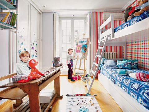 Room, Interior design, Home, Toy, Floor, Child, Interior design, Shelf, Shelving, House,