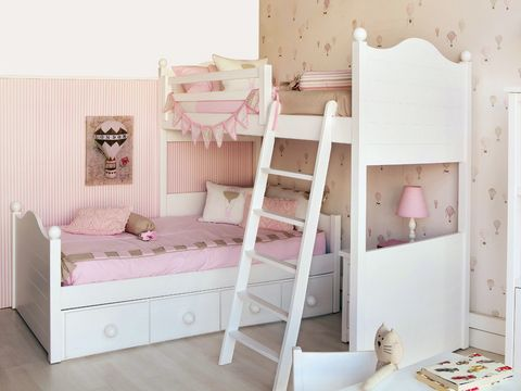 Wood, Product, Room, Interior design, Textile, Bed, Pink, Furniture, Wall, Linens,