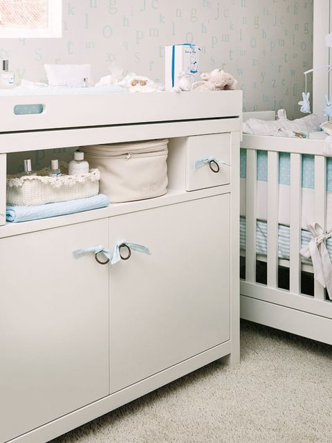 Product, Room, White, Drawer, Interior design, Chest of drawers, Cabinetry, Nursery, Teal, Turquoise,