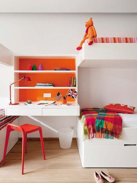 Product, Room, Interior design, Orange, Interior design, Floor, Shelving, Flooring, Home, Household supply,