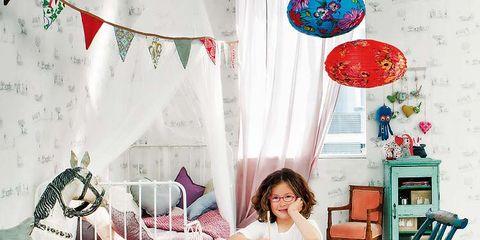Room, Furniture, Interior design, Pink, Table, Lamp, Party supply, Decoration, Interior design, Outdoor furniture,