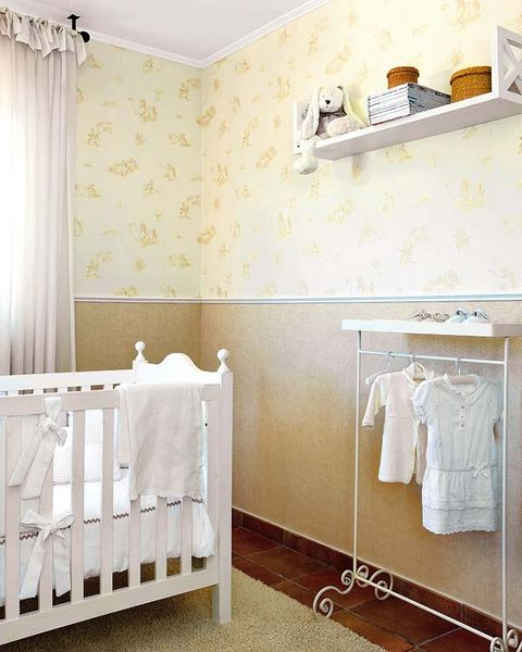 Product, Room, Interior design, Textile, Floor, Wall, Linens, Infant bed, Bed, Interior design,
