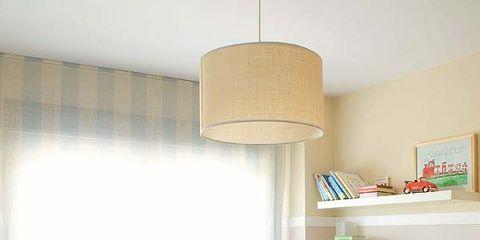 Room, Product, Interior design, Lampshade, Wall, Linens, Interior design, Lighting accessory, Lamp, Nursery,