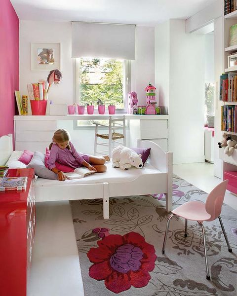 Room, Interior design, Furniture, Pink, Home, Petal, Interior design, Shelving, Magenta, Purple,