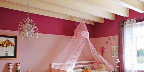 Interior design, Room, Yellow, Home, Ceiling, Flooring, Pink, Floor, Interior design, Decoration,