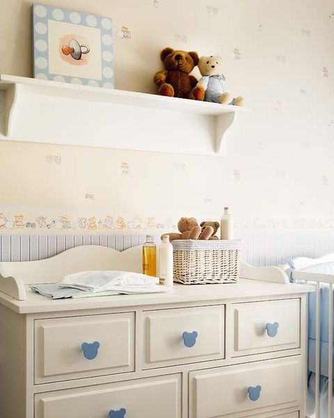 Blue, Room, Drawer, Wall, White, Interior design, Chest of drawers, Cabinetry, Aqua, Azure,