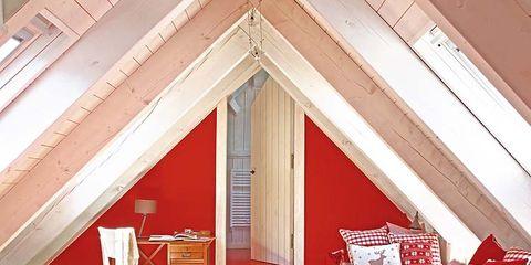 Room, Red, Interior design, Floor, Home, Flooring, Ceiling, Real estate, House, Interior design,