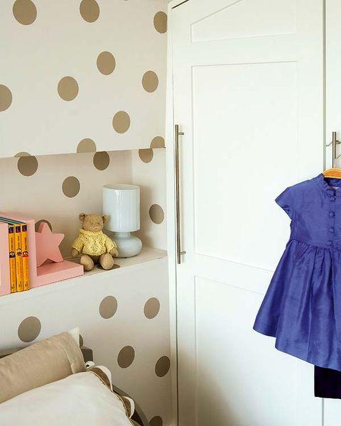 Room, Textile, Wall, Interior design, Door, Pattern, Grey, Electric blue, Cobalt blue, Beige,