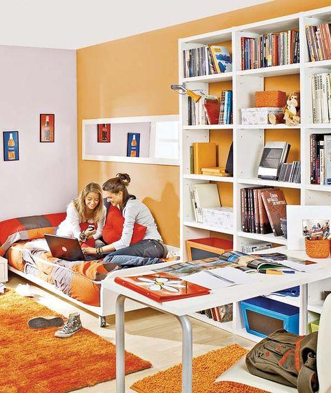 Room, Shelf, Interior design, Shelving, Bookcase, Comfort, Publication, Book, Home, Interior design,