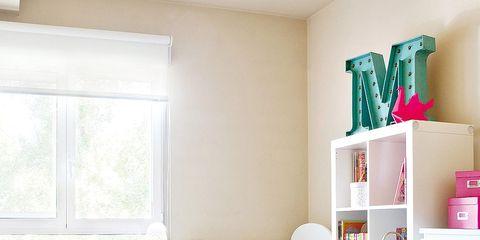 Room, Interior design, Wood, Home, Pink, Shelving, Wall, Shelf, Interior design, Nursery,