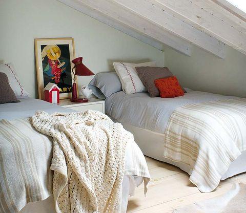 Room, Interior design, Bed, Bedding, Property, Bedroom, Textile, Floor, Wall, Bed sheet,