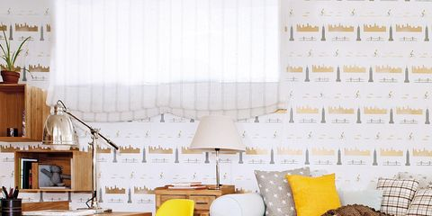 Wood, Yellow, Room, Interior design, Furniture, Flowerpot, Wall, Floor, Interior design, Home,