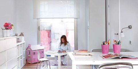 Wood, Room, Interior design, Floor, Table, Flooring, Furniture, Pink, Wood flooring, Hardwood,