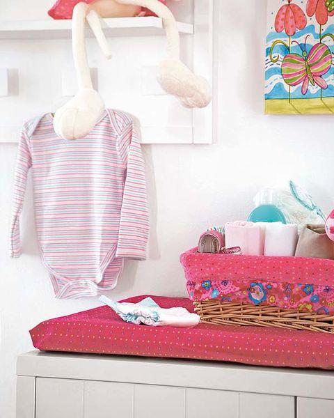 Room, Pink, Clothes hanger, Linens, Teal, Peach, Home accessories, Interior design, Bag, Creative arts,