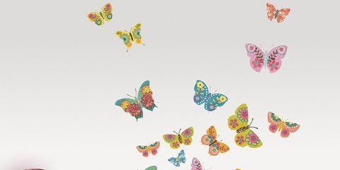 Room, Yellow, Textile, Bedding, Bedroom, Furniture, Magenta, Pollinator, Interior design, Pink,