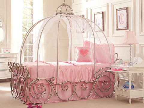 Product, Bed, Canopy bed, Furniture, Iron, Pink, Room, Infant bed, Mosquito net, Bed frame,
