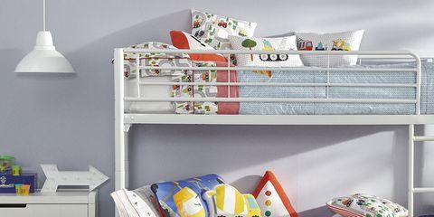 Room, Furniture, Shelf, Product, Wall, Bed, Interior design, Bedroom, Floor, Child,
