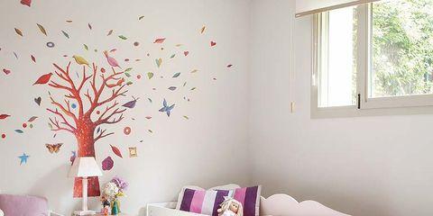 Room, Interior design, Window, Wall, Home, Textile, Furniture, Pink, Floor, Interior design,