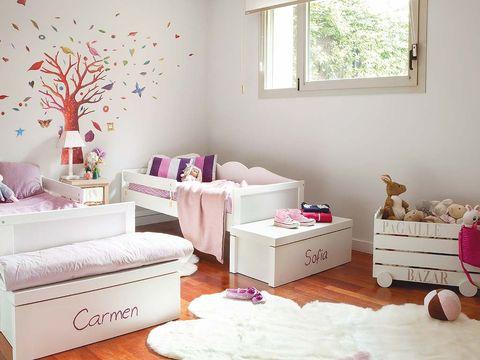 Room, Interior design, Wall, Home, Furniture, Pink, Interior design, Living room, Floor, Stuffed toy,