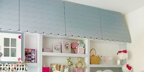 Product, Room, Interior design, Shelving, Pink, Wall, Home, Teal, Aqua, Linens,