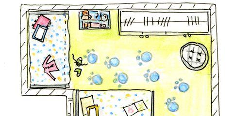 Yellow, Line, Cartoon, Parallel, Rectangle, Illustration, Design, Child art, Paper, Drawing,