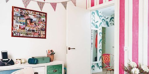 Room, Interior design, Floor, Wall, Interior design, Flooring, Turquoise, Teal, Home, Plate,