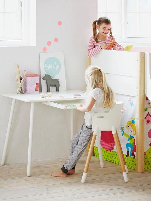 Room, Pink, Interior design, Interior design, Artist, Desk, Design, Visual arts, Peach, Picture frame,