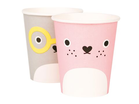 Product, Pink, Drinkware, Peach, Plastic, Paper, Paper product, Circle, Cylinder, Household supply,