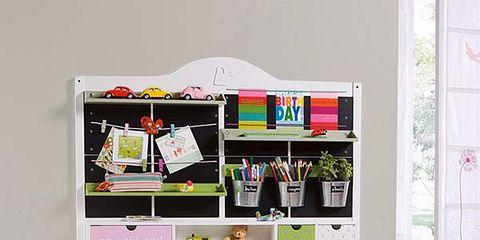Room, Jeans, Denim, Floor, Pink, T-shirt, Magenta, Shelf, Shelving, Door,