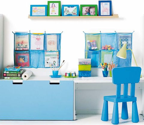 Room, Turquoise, Teal, Aqua, Azure, Cabinetry, Paint, Publication, Stool, Collection,