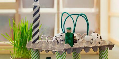 Green, Figurine, Toy, Wheatgrass, Household supply,