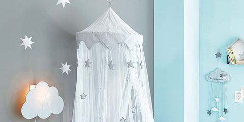 Product, White, Room, Infant bed, Bed, Furniture, Wall, Nursery, Interior design, Curtain,