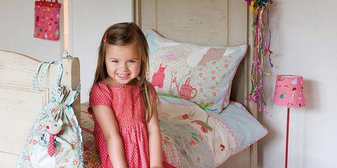 Textile, Pink, Room, Magenta, Interior design, Fawn, Lamp, One-piece garment, Nightwear, Embellishment,
