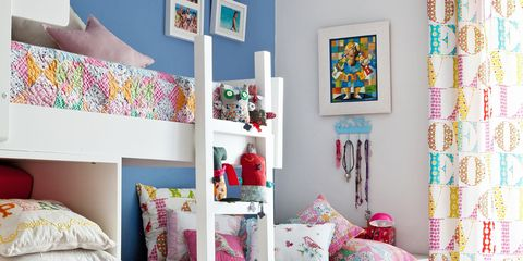 Blue, Room, Interior design, Product, Green, Wall, Textile, Bedroom, Bedding, Home,