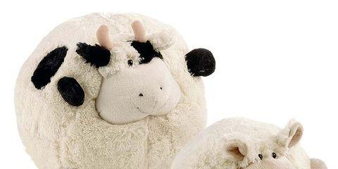 Toy, Organism, Textile, Baby toys, White, Stuffed toy, Plush, Snout, Animal figure, Terrestrial animal,