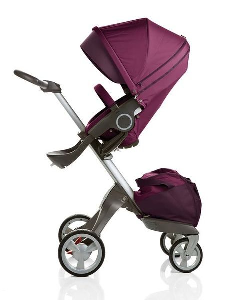Product, Baby carriage, Baby Products, Purple, Magenta, Violet, Musical instrument accessory, Rolling, Silver, Strap,