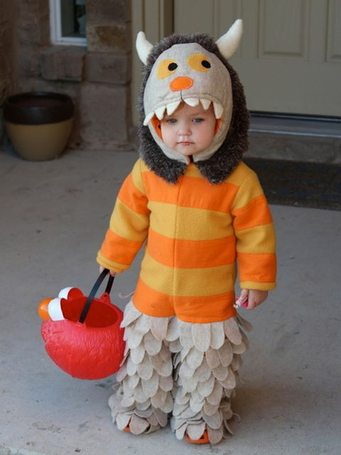 Orange, Baby & toddler clothing, Toddler, Costume, Play, Flowerpot, Overall, Hood, Baby, trick-or-treat,