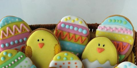 Food, Easter, Easter egg, Icing, Royal icing, Snack, Sweetness, Finger food, Cookies and crackers, Event,