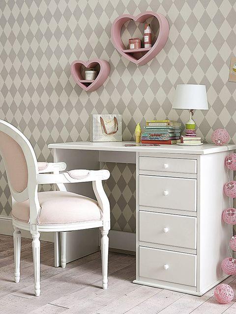 Room, Interior design, Green, Floor, Drawer, Furniture, White, Flooring, Pink, Style,