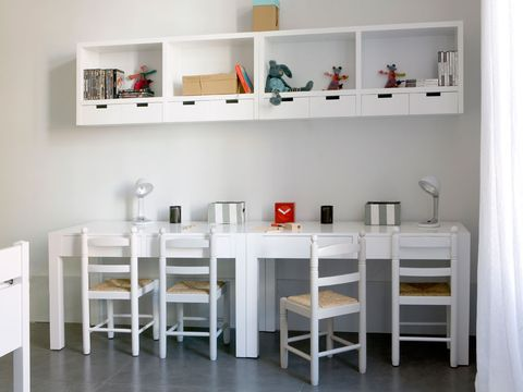 Product, Room, Interior design, Table, Wall, Floor, Chair, Shelving, Grey, Interior design,