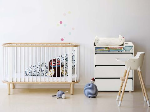 Product, Wood, Textile, Infant bed, Furniture, Nursery, Baby Products, Baby toys, Beige, Bed frame,