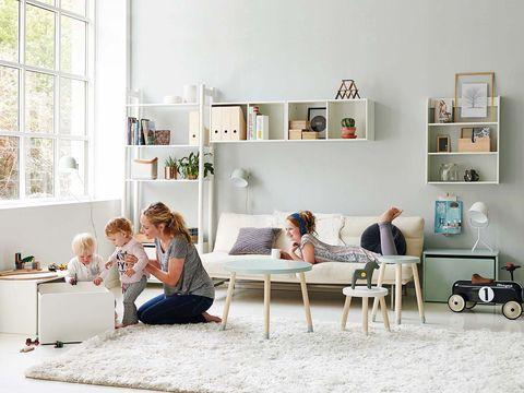 Human, Room, Interior design, Furniture, Home, Shelf, Shelving, Interior design, Living room, Photography,