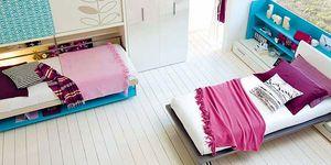 Dormitorio infantil con cama extra abatible