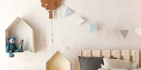 Blue, Room, Textile, Bed, Interior design, Wall, Furniture, Linens, Bedding, Bedroom,