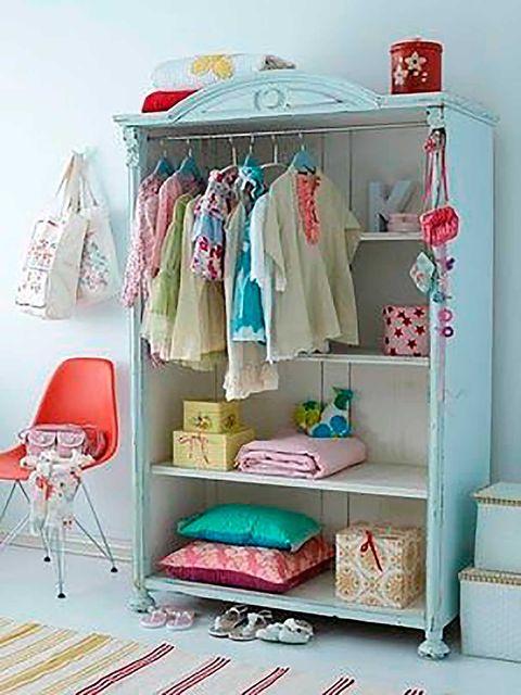 Blue, Room, Textile, Pink, Clothes hanger, Interior design, Teal, Shelving, Turquoise, Aqua,