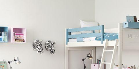 Room, Interior design, Furniture, Wall, Shelving, Pink, Turquoise, Teal, Shelf, Grey,