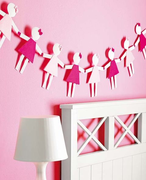 Red, Pink, Wall, Lamp, Carmine, Wall sticker, Magenta, Interior design, Household supply, Lampshade,