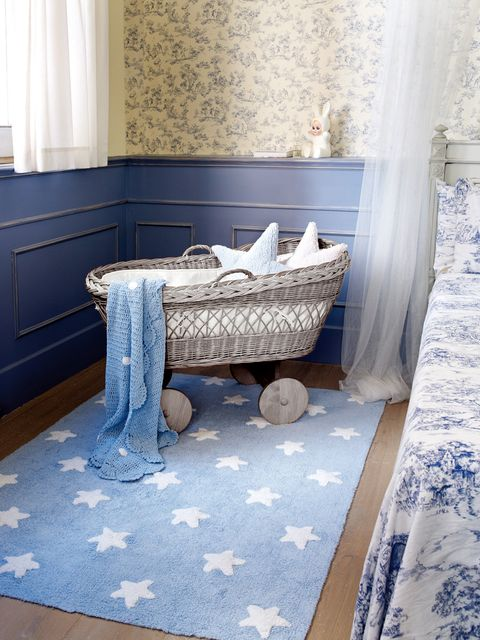 Blue, Floor, Room, Flooring, Interior design, Textile, Window treatment, Curtain, Interior design, Tile,