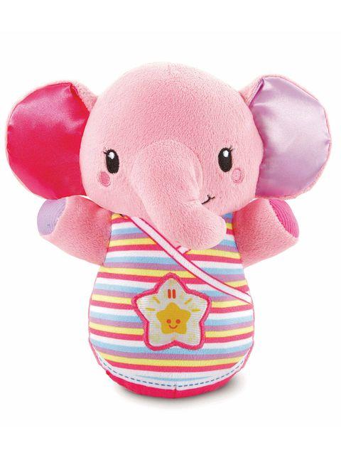 Elephant, Stuffed toy, Pink, Elephants and Mammoths, Toy, Plush, Baby toys, Textile,